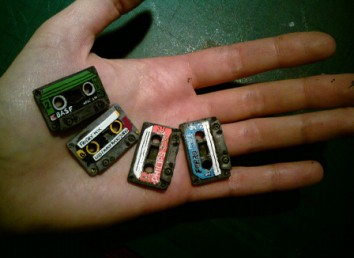 Cassette Brooches